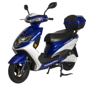 Cabo Cruiser 600 Watt Electric Scooter Moped - Blue