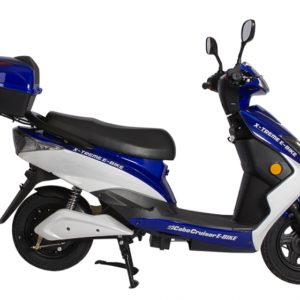 Cabo Cruiser 600 Watt Electric Scooter Moped - Blue 4