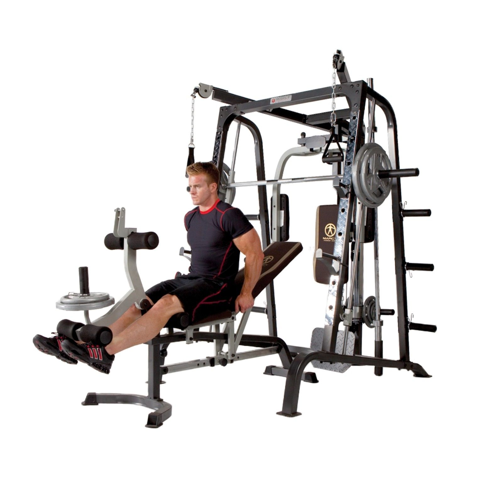 Top Exercise Equipment: Deluxe Diamond Elite Smith Cage Total Body Gym