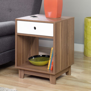 Inspired Accents Decorative Walnut Side End Table