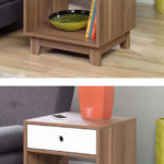Inspired Accents Decorative Walnut Side End Tables