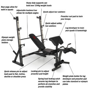 Marcy Diamond Olympic Surge Weight Bench 1