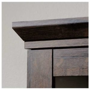 Oak Tall Display Cabinet - Coffee Color 6