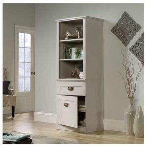 Tall Storage Cabinet - Cobblestone White 2
