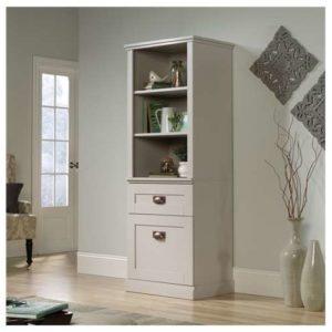 Tall Storage Cabinet - Cobblestone White