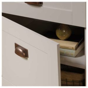 Tall Storage Cabinet - Cobblestone White 6