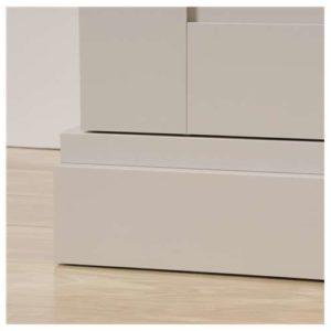 Tall Storage Cabinet - Cobblestone White 7