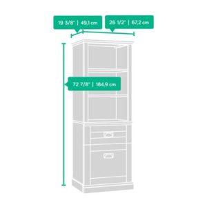 Tall Storage Cabinet - Cobblestone White 8
