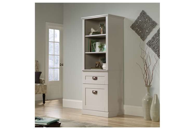 Tall Storage Cabinet For Living Room Cobblestone White Or Coffee Oak