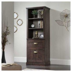 Tall Storage Cabinet - Coffee Black