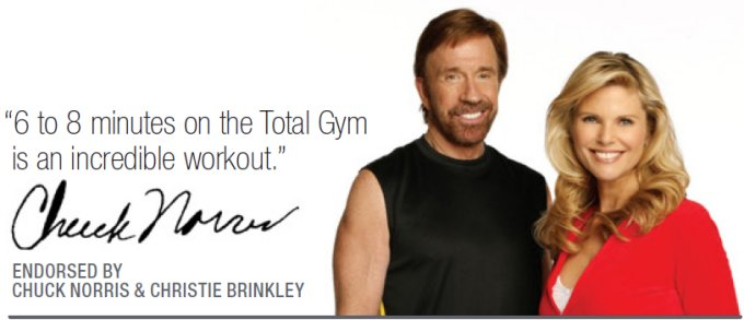 Total Gym 1100 Deluxe Home Exercise Machine - Chuck Norris Endorsement