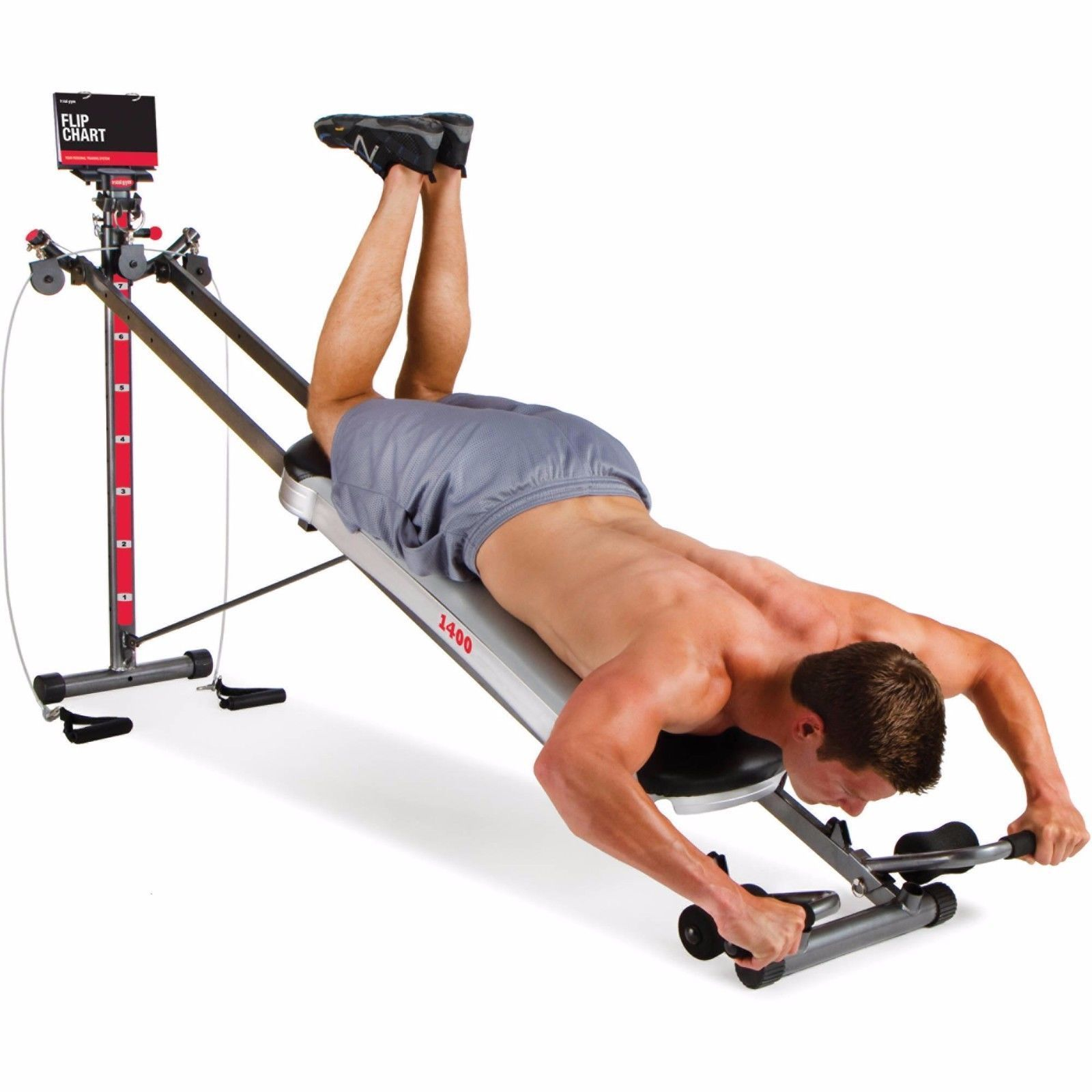 Free Weights Total Body Workout: Total Gym 1400 Deluxe Home Exercise Machine