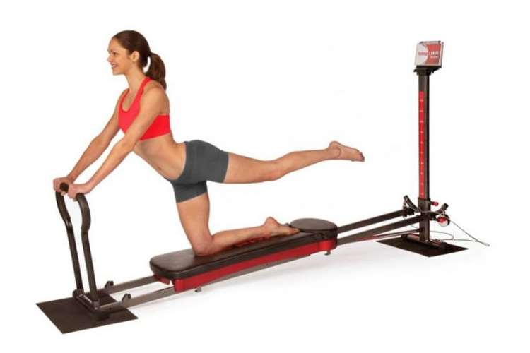 Total gym home leg exercise machine and dvds