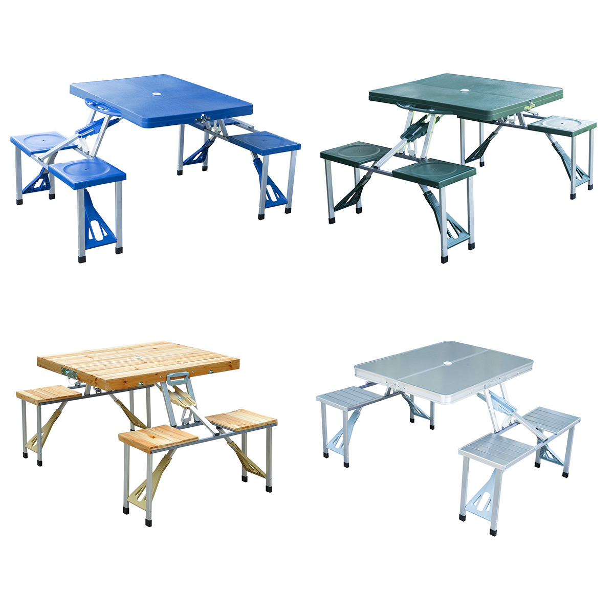 portable folding picnic table 4 options. Black Bedroom Furniture Sets. Home Design Ideas