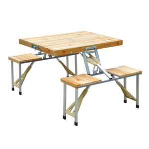 Portable Folding Picnic Table - Wooden