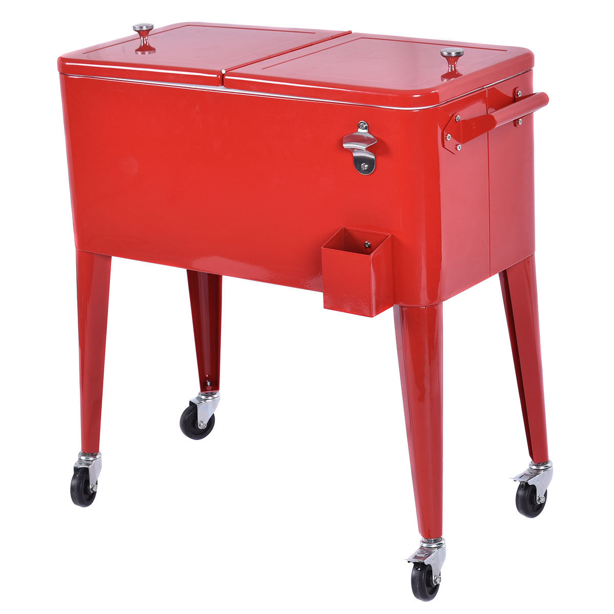 portable rolling cooler ice chest 80qt 2
