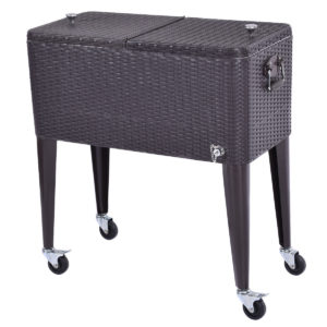 Wicker Rolling Cooler Portable Ice Chest - 80qt 2