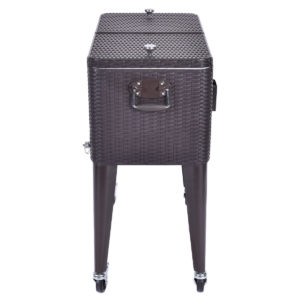 Wicker Rolling Cooler Portable Ice Chest - 80qt 3
