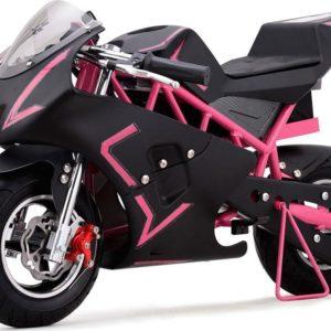 36v cali electric pocket bike motorcycle pink