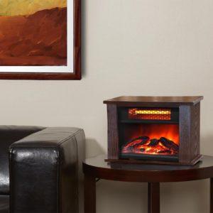 750 Watt Infrared Mini Fireplace Heater 2