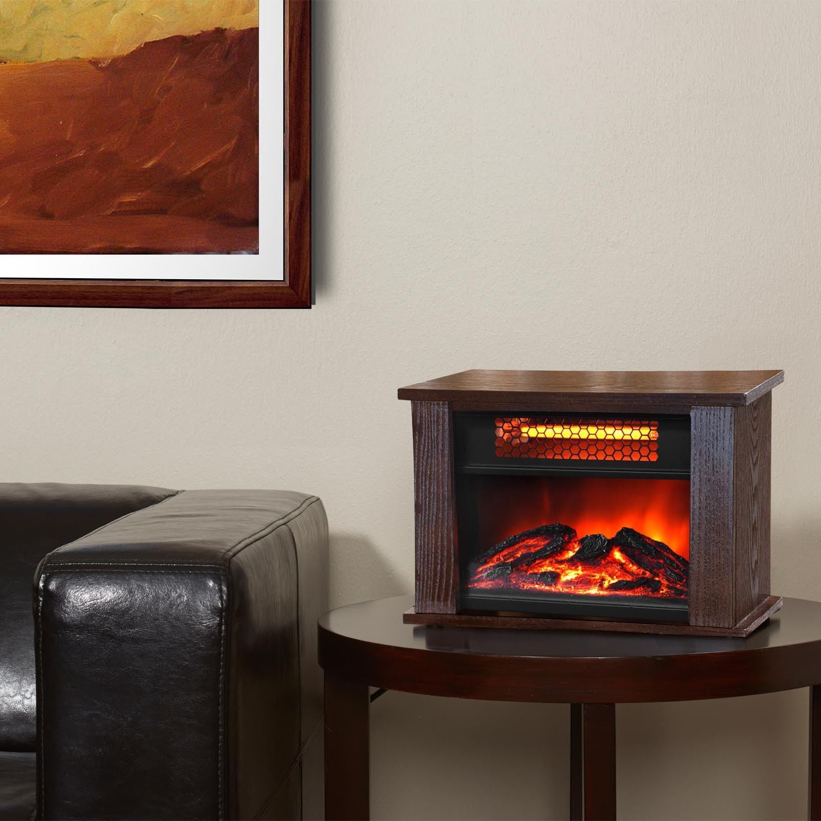 750 Watt Infrared Mini Fireplace Heater