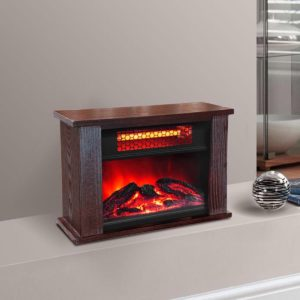 750 Watt Infrared Mini Fireplace Heater 4