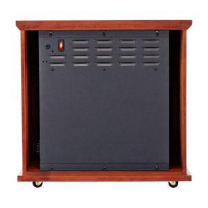 Dark Oak Fireplace Infrared Space Heater - 5200 BTU 2