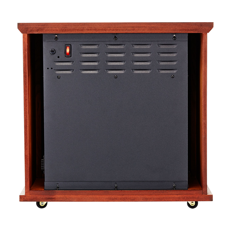 Dark Oak Fireplace Infrared Space Heater - 5200 BTU