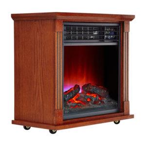 Dark Oak Fireplace Infrared Space Heater - 5200 BTU 3