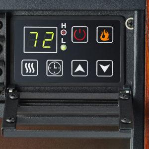 Dark Oak Fireplace Infrared Space Heater - 5200 BTU 4