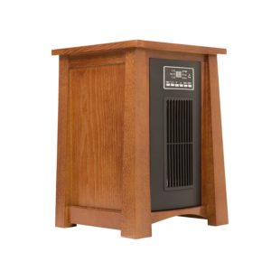 Dark Oak Infrared Zone Heater with 3 Heat Settings 2