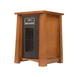 Dark Oak Infrared Zone Heater with 3 Heat Settings 3