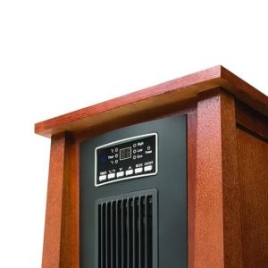 Dark Oak Infrared Zone Heater with 3 Heat Settings 5