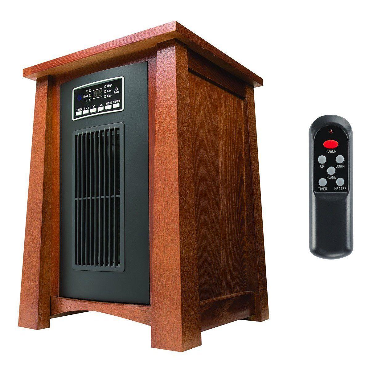 Dark Oak Infrared Zone Heater With 3 Heat Settings