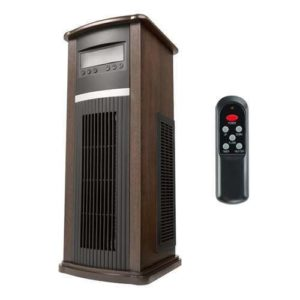 Dark Walnut Vertical Infrared Space Heater