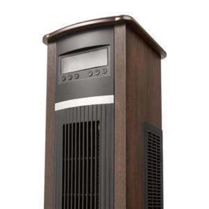 Dark Walnut Vertical Infrared Space Heater 6