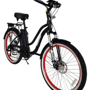 Hanalei Electric Step Through Beach Cruiser Bicycle - Black 2