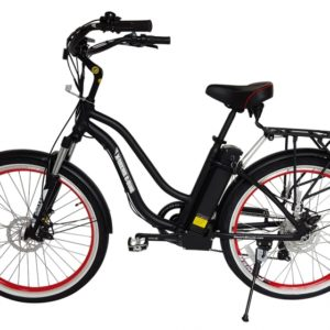 Hanalei Electric Step Through Beach Cruiser Bicycle - Black 3