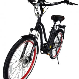 Hanalei Electric Step Through Beach Cruiser Bicycle - Black