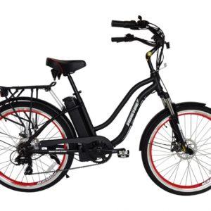 Hanalei Electric Step Through Beach Cruiser Bicycle - Black 4