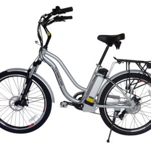 Hanalei Electric Step Through Beach Cruiser Bicycle - Silver 3