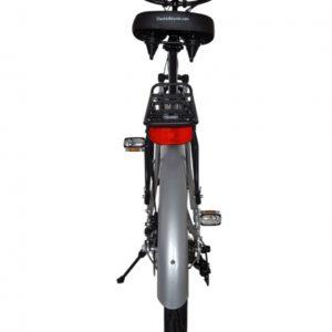 Hanalei Electric Step Through Beach Cruiser Bicycle - Silver Rear