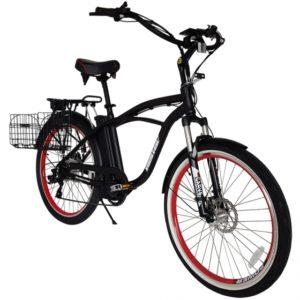 Kona Electric Beach Cruiser Bicycle - 36 Volt Lithium Powered - Black 2