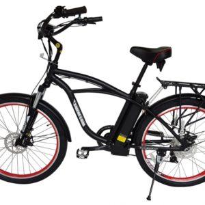 Kona Electric Beach Cruiser Bicycle - 36 Volt Lithium Powered - Black 3
