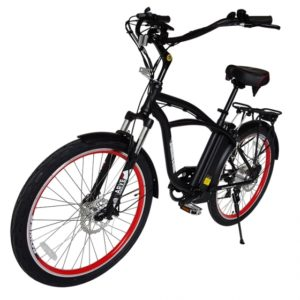 Kona Electric Beach Cruiser Bicycle - 36 Volt Lithium Powered - Black