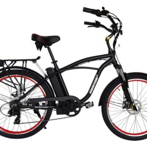 Kona Electric Beach Cruiser Bicycle - 36 Volt Lithium Powered - Black 4