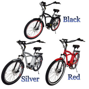 Kona Electric Beach Cruiser Bicycle - 36 Volt Lithium Powered - Featured Image