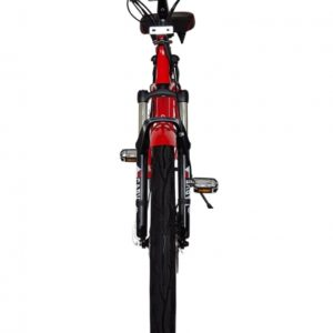 Kona Electric Beach Cruiser Bicycle - 36 Volt Lithium Powered - Red Front