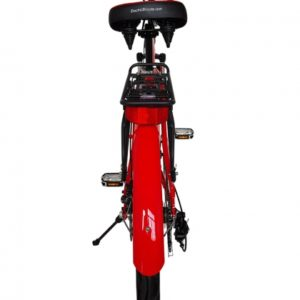 Kona Electric Beach Cruiser Bicycle - 36 Volt Lithium Powered - Red Rear