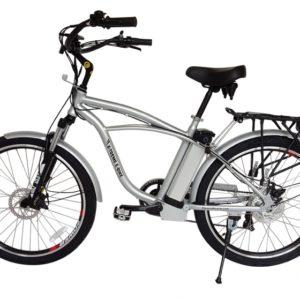 Kona Electric Beach Cruiser Bicycle - 36 Volt Lithium Powered - Silver 3